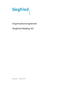 Organisationsreglement (DE)