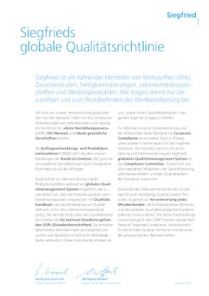 Global Quality Policy (DE)
