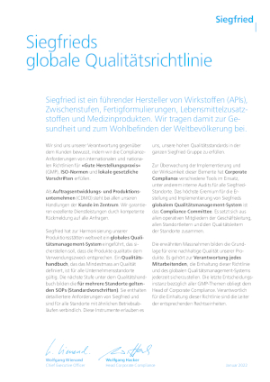 Global Quality Policy (DE)