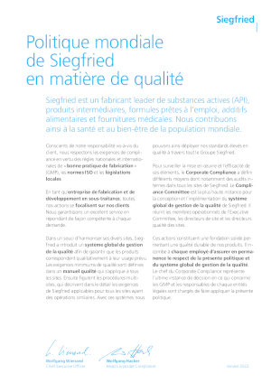 Global Quality Policy (FR)