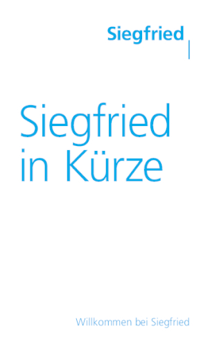 Siegfried in Kürze (DE)