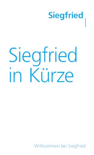 Siegfried in Kürze (DE)