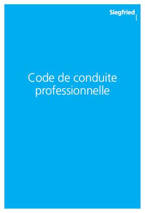Code de conduite professionnelle